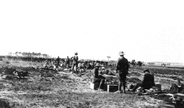 8. QODY Officers and men preparing for battle 1916