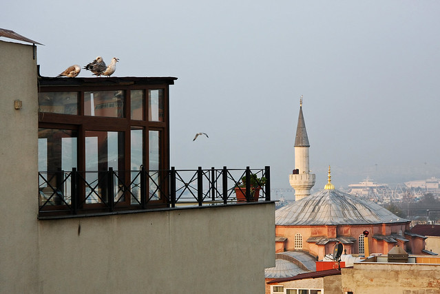 Little Hagia Sophia view from the terrace, Istanbul, Turkey イスタンブール、テラスから見たキュチュック・アヤソフィア