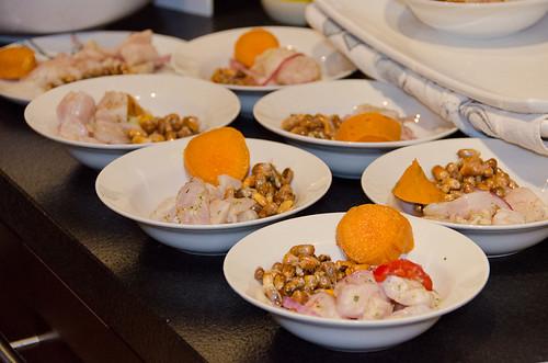 Peruvian Dinner - cebiche and canchitas