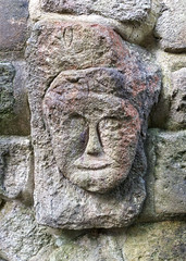 Face in the wall at Heptonstall