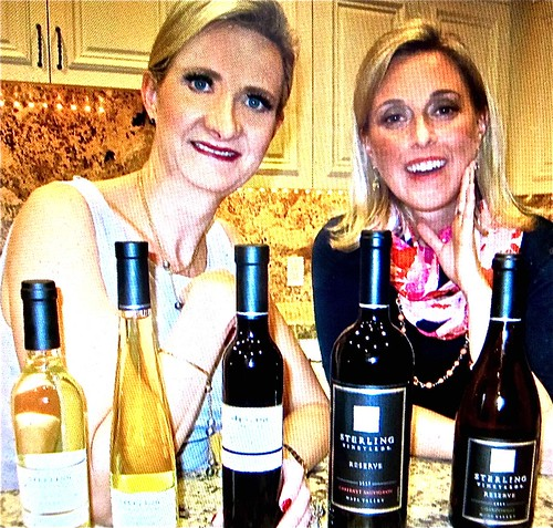 alison (right) with Sophie Gayot and Oscar wines