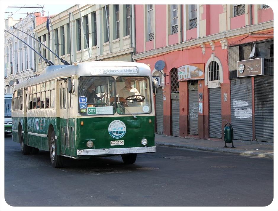 valparaiso trolley bus