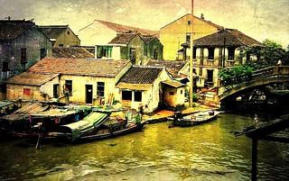 China-Suzhou, Tongli - Leben am Kanal, 63-60/1977