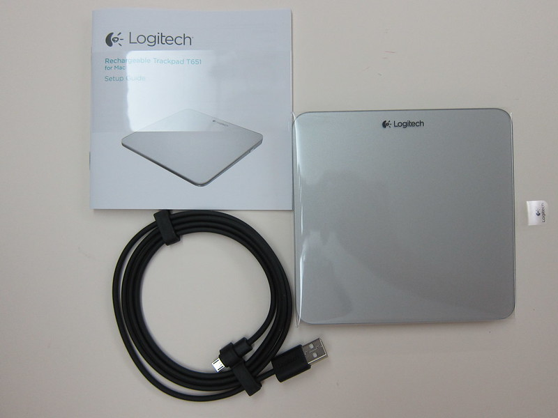 Logitech Rechargeable Trackpad for Mac (T651) - Box Contents
