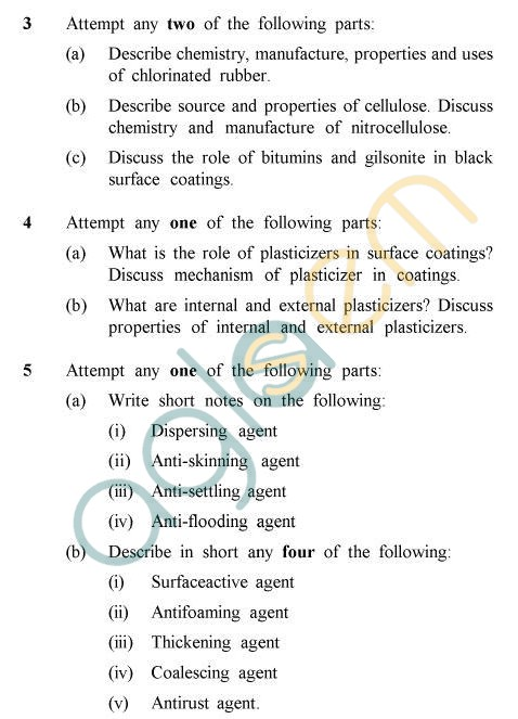 UPTU B.Tech Question Papers -TPT-401 - Natural Resins & Polymers, Plasticizers Additives