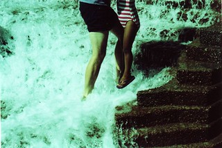 Summer fountain swim