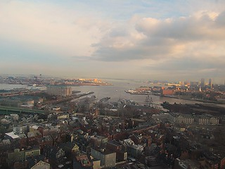 Image of Bunker Hill Monument. boston aerial freedomtrail bunkerhill ussconstitution americanhistory bostonharbor