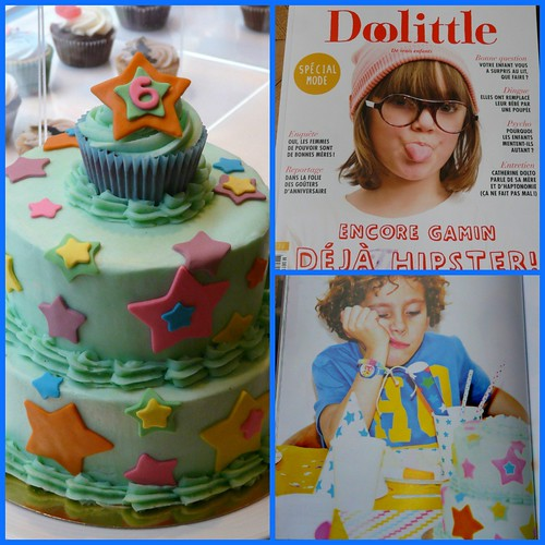 Our Star Cake in Doolittle Magazine! by Sugar Daze