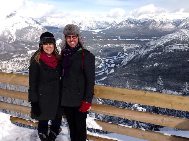 Scott and Dajana at top of Sulphur Mountain