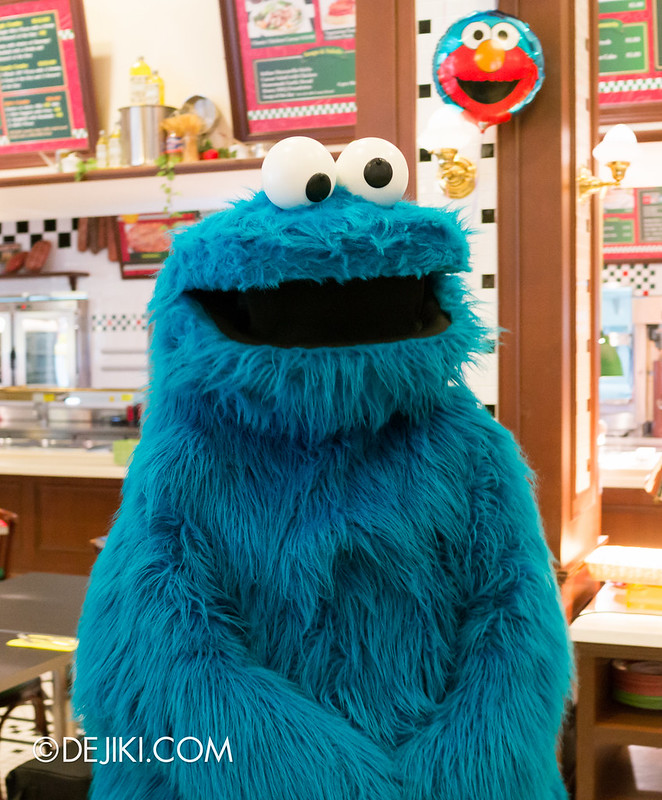 Sesame Street Character Breakfast at Universal Studios Singapore - Cookie Monster