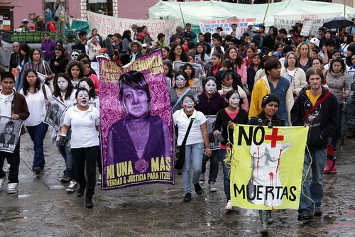 A protest in Chiapas