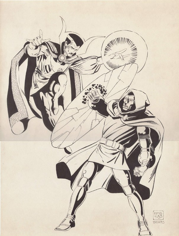 Paul Smith 1983 Doctor Strange vs Doctor Doom