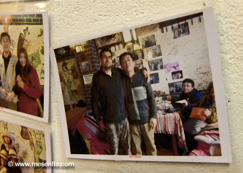 German Aguilar fotografiado en un restaurante de Xinping