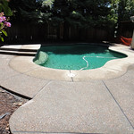 Exposed Aggregate Pool Deck Extension