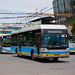 [Buses in Beijing]青年尼奥普兰-华宇 Youngman Neoplan - Huayu JNP6120GD/BJD-WG120N <Trolley-bus> 北京公交集团 BPT #95090 Front-right at Art Museum Crossing