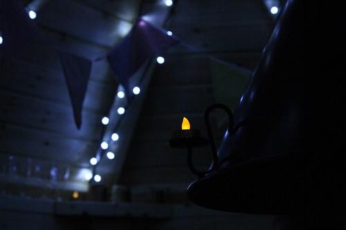 Fairy lights, bunting