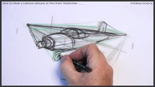 learn how to draw a cartoon airplane in two point perspective 022