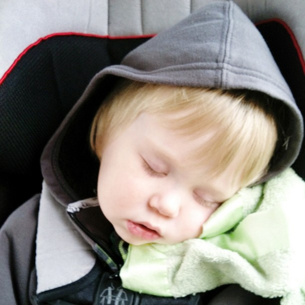 The only place he will nap is in his carseat.