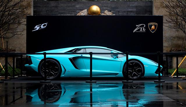 Baby Blue Lamborghini LP700-4