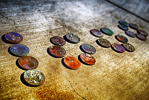 Pennies And Dimes Tell A Thousand Stories by hbmike2000