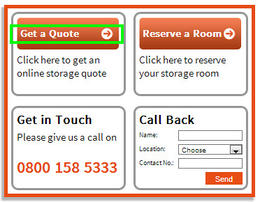 Manchester self storage quote click through