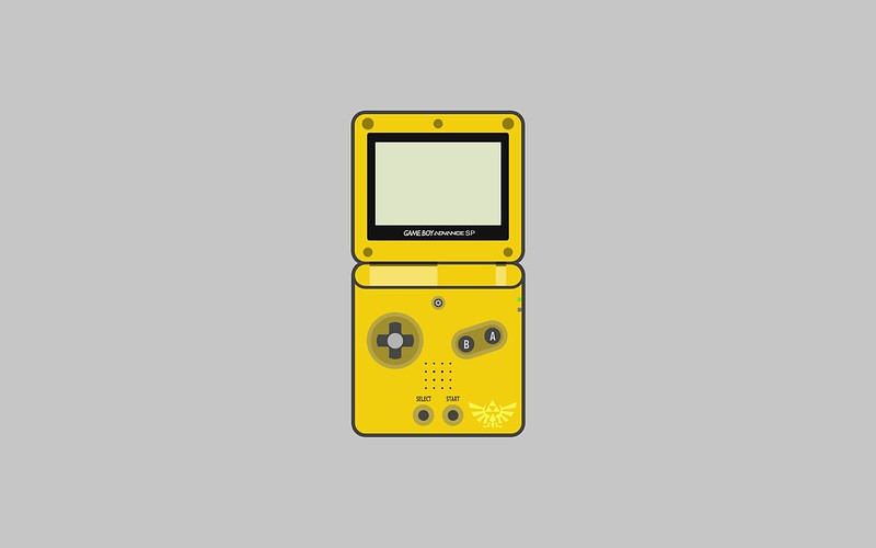 Nintendo Game Boy Advance SP wallpaper - Zelda special edition