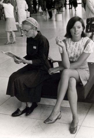 Two Women with Contrasting Dress, Mennonite World Conference, 1967