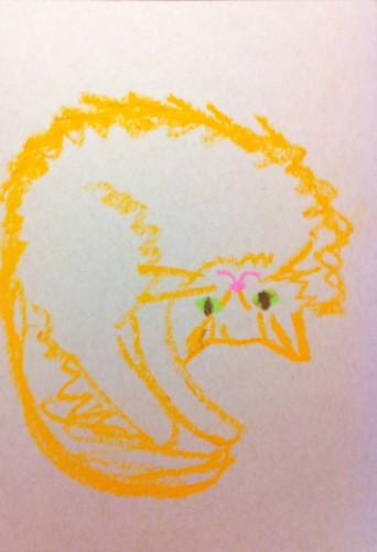 082:365 Pineapple Upside-down Cat