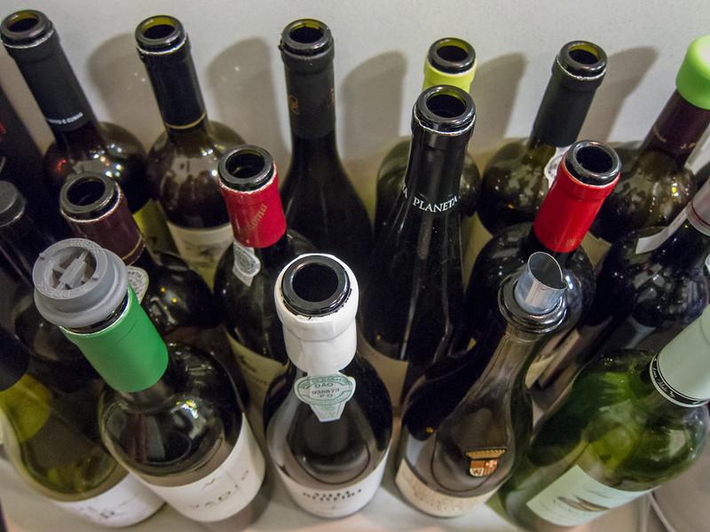 Secar umas garrafas com...