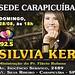 Domingo, às 18h SILVIA KER na Sede Regional da Paz e Vida de Carapicuíba / SP. Ministração: Pr. Flávio Rubens.