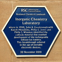 Photo of Inorganic Chemistry Laboratory, John B. Goodenough, Koichi Mizushima, Philip C. Jones, and 1 other