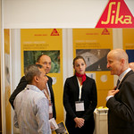 Delegates at the Sika Stand