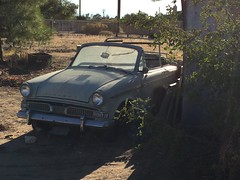 Hillman Minx convertible found in the California High Desert