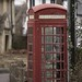 Faded Red Telephone Box