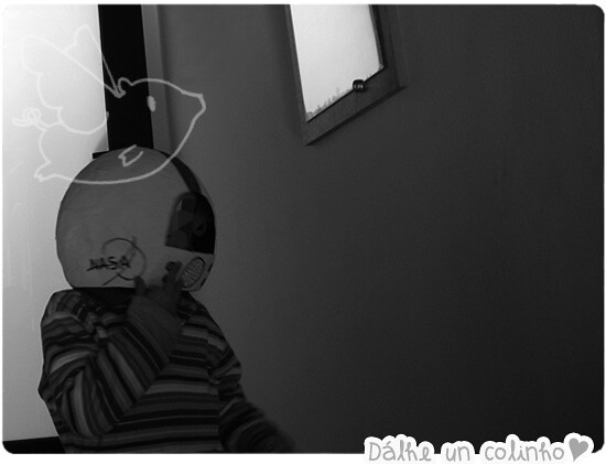 Casco De Astronauta de papel mache