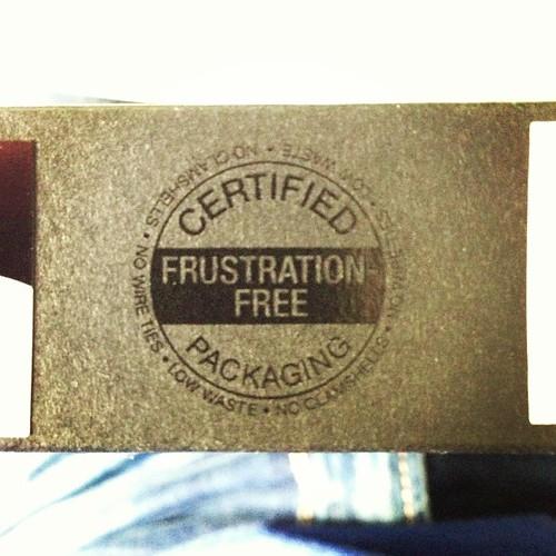 Packaging libre de frustración. Brutal! XD