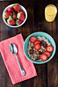 Steel Cut Oats with Nutella and Strawberries