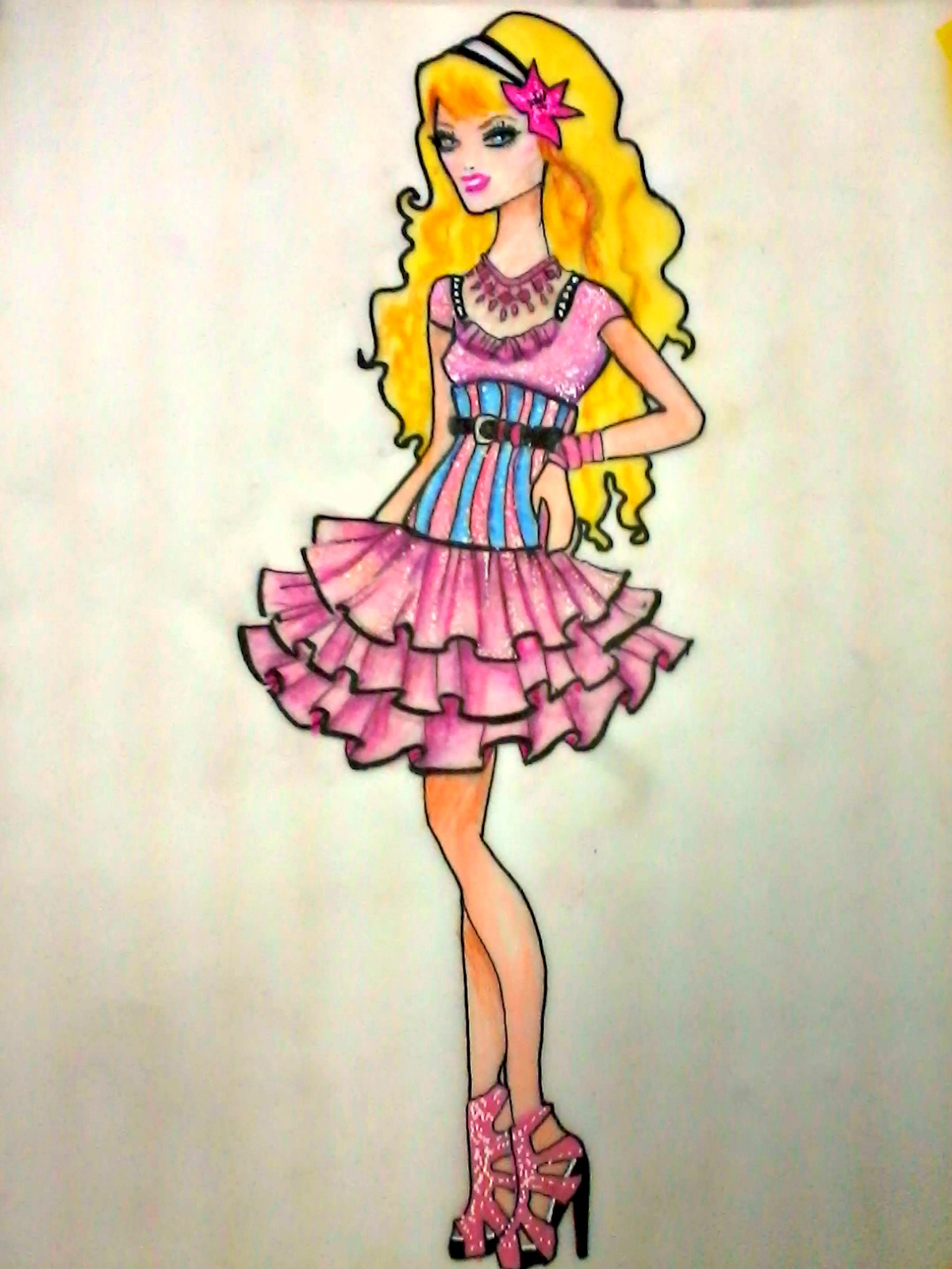 Barbie A Fashion Fairytale Dresses Sketches Flickr - Photo Sharing...