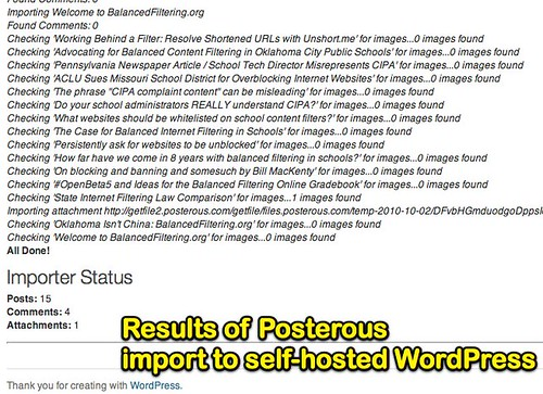 Import Posterous to Self-Hosted WordPress