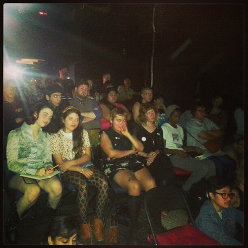 Just some of the over capacity crowd at #poczines panel during #lazinefest 2013 <3