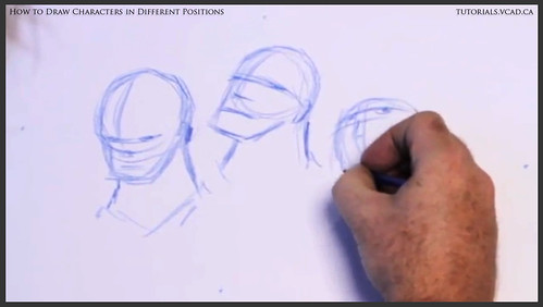 learn how to draw characters in different positions 005