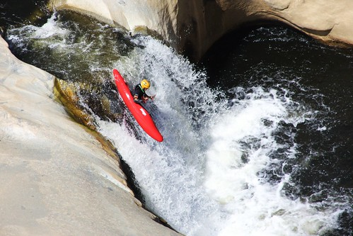 A kayaker maneuvers the Seven Teacups on the Kern River in the Sequoia National Forest.  The photo won Glen Maki a trip for four, and his photo will be on the 2013 Federal Recreation Lands Pass. (Photo courtesy Glen Maki)