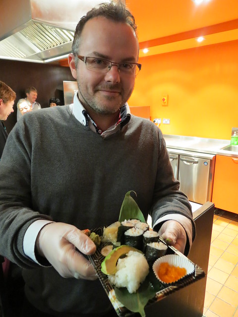 Nick - who kindly let me try his sushi, even though we'd never met before!