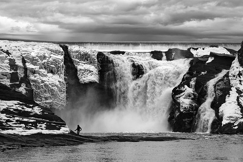 winter sky people blackandwhite mist snow canada ice water clouds canon landscape waterfall quebec lookout québec t3i 600d chutesdelachaudière gsamie guillaumesamie