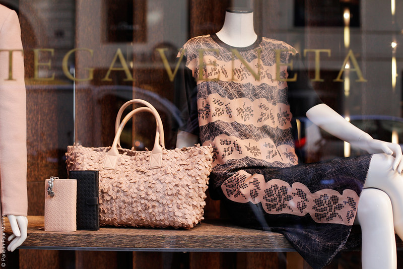 Bottega Veneta's window display by Carin Olsson (Paris in Four Months)