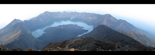 panorama indonesia volcano view panoramic summit lombok rinjani rinjanimerge2ct