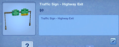 Traffic Sign Highway Exit