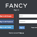 Fancy's sign-in page