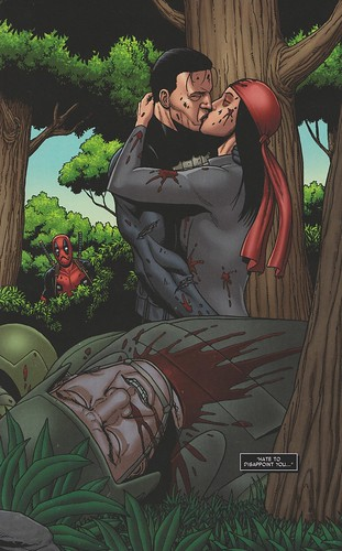 punisher kiss elektra thunderbolts #5