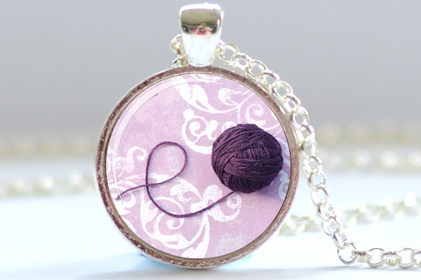 French Honey ball of yarn art pendant